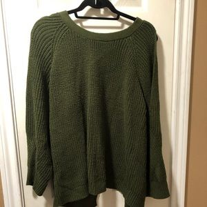 Madison Lilly  dark green sweater open back*